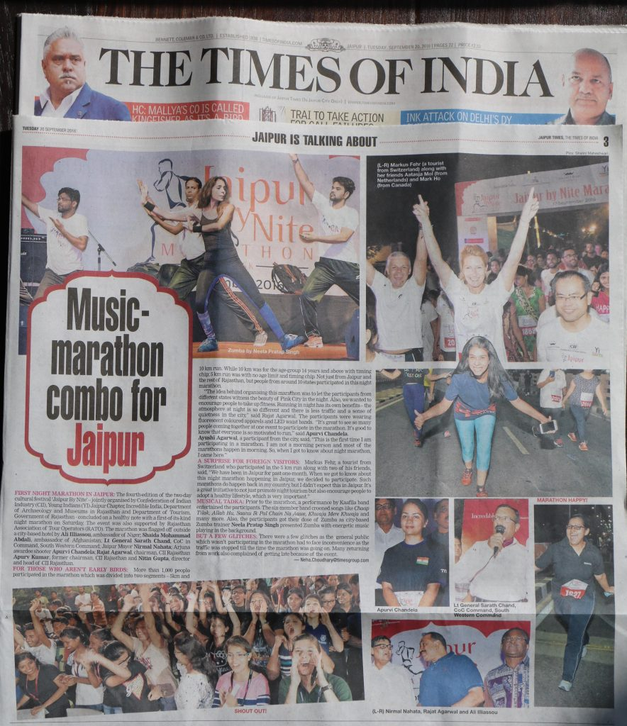 The Times of India - Jaipur, September 20, 2016
