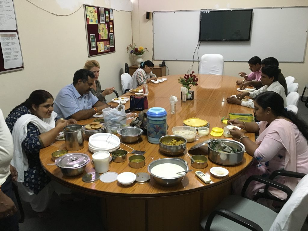 Lunch at the boardroom for Pitru Paksha